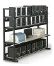 kendall howard 72 inch 4 post lan racking shelving station