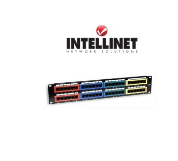 Picture of 48-Port Cat5e Rackmount Patch Panel (Color Coded)