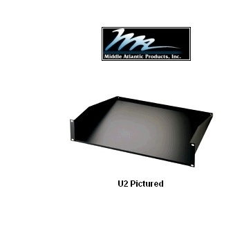 "Picture of 1U x 12"" Deep Solid Rack Shelf for 19 inch Rackmount Enclosures"